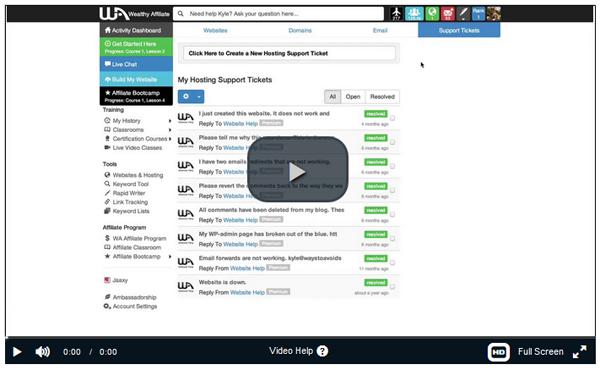 Wealthy Affiliate Premium membership overview full functionality