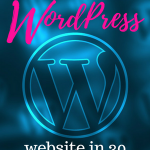 How to build a free WordPress website in 30 seconds